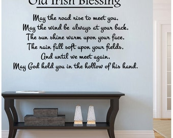 "Old Irish Blessing Until We Meet Again-Wall Decal (33"" X 20"")"