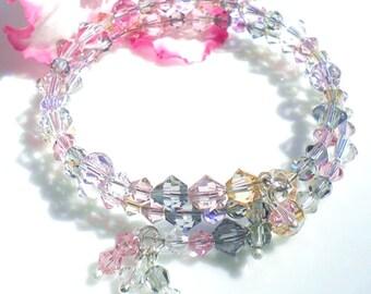 Swarovski Crystal Bracelet Summer Colors Memory Wire