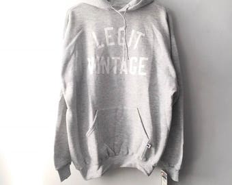 legit vintage X russell athletic hoodie mens size XL deadstock NWT 90s made in USA
