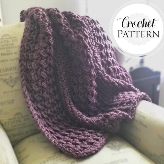 Chunky Blanket Crochet Pattern Crochet Chunky Blanket Pattern
