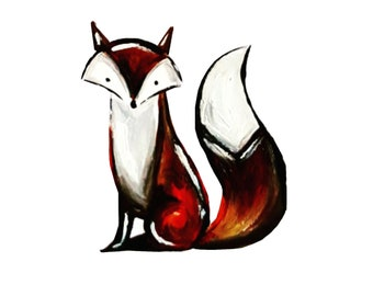 A5 Print of original 'Fox' painting