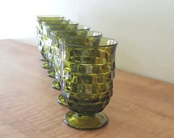 Whitehall Juice Glasses Indiana Glass Co Set of 6