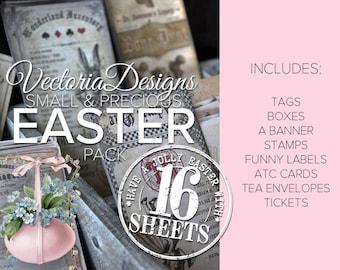 Printable Easter Pack Paper Crafting diy Easter Party Printable  digital scrapbooking paper crafting instant digital download - VDSPEA1744