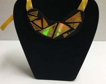 Bib necklaces with Recycled CD