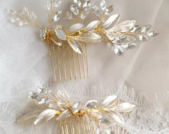 Gold bridal hair comb-retro hairpiece-wedding hair accessories-headpiece