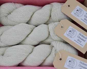3 Gorgeous strands Baby alpaca Lace, 100% pure soft baby Alpaca skeins for Lace knitting 3 skeins in a package