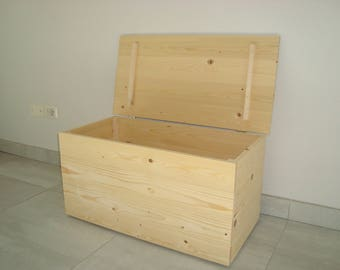 ' ' orchid ' ' chest in solid fir wood 80X40X40 SP. 2 CM