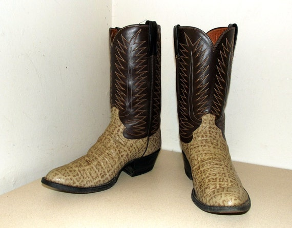 or 5 tone Cowgirl Cowtown size 12 brown D 10 cowboy boots two size ggwOU
