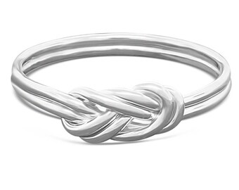 Sterling Silver Climbing Knot Ring - Alternative Engagement Ring - Celtic Ring Minimalist Ring