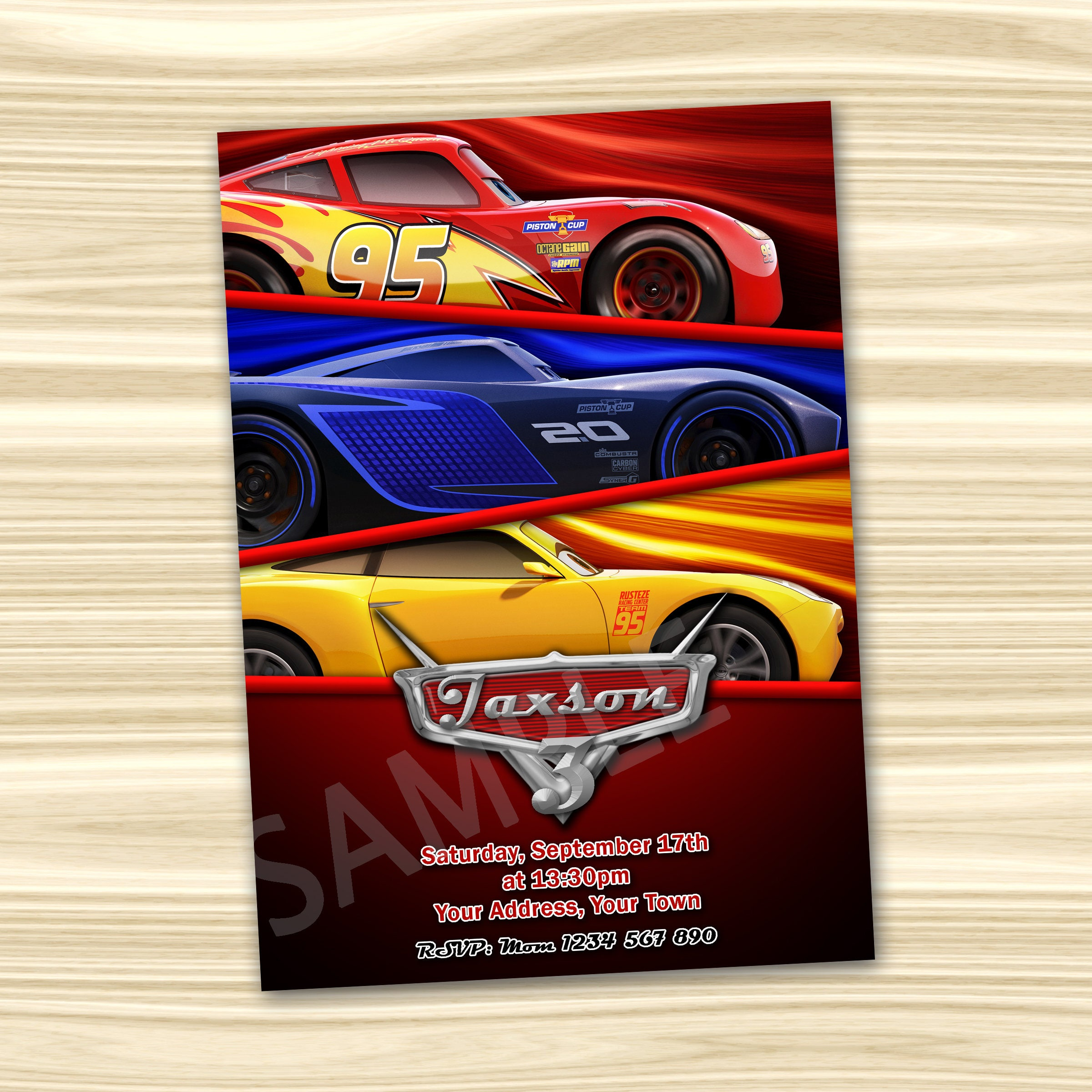 Disney Cars Birthday Invitations Awesome Lightning