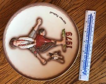 """Norman Rockwell 1979 """"Leapfrog"""" plate"""