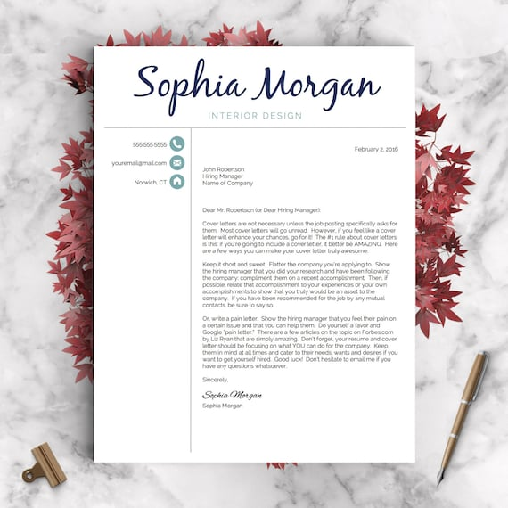 Creative Resume Template | Resume For Word And Pages | 1, 2 U0026 3 Page Resume  Template, Icon Set, Cover Letter | Instant Download CV Template  How To Make A Creative Resume