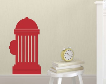 Fire Hyrdrant Wall Decal, Boys Bedroom Decor, Fireman Decal, Firefighter Bedroom Decor, Boys Wall Decals