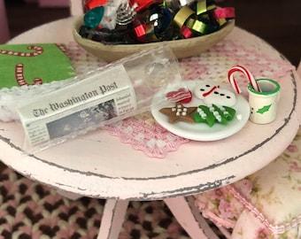 Miniature Newspaper, Post Delivery Edition, Mini Paper in Bag, Dollhouse Miniature, 1:12 Scale, Dollhouse Accessory, Decor, Crafts