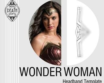 Wonder Woman Headband Template (PDF download)
