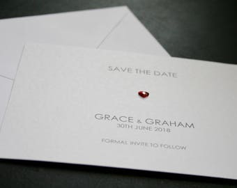 Modern and beautiful Save The Date cards (Bespoke, different, elegant, simple, handmade)
