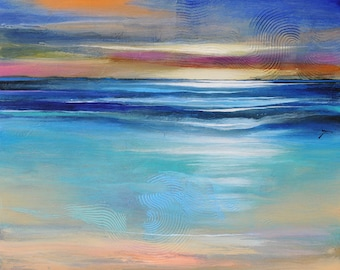 Original Abstract Art Painting  •  Contemporary Art  • GULF SETTING  •  Original Abstract Art • Original Painting