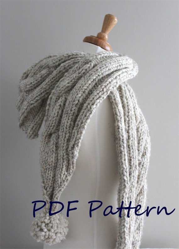 knitting pattern cable hooded scarf pdf knitting pattern. Black Bedroom Furniture Sets. Home Design Ideas