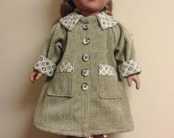 """1ofakinddollclothes 2018 Winter coat, hat and boots for American Girl, My Life and other 18""""dolls."""