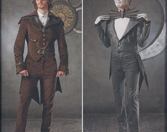 Simplicity 1039 Mens Steampunk Vampire Costume Coat Pants Bat Bow Tie UNCUT Sewing Pattern