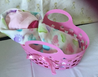 Diaper Baby Pink Basket Baby Shower Gift Unique