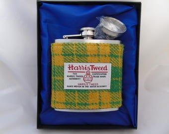 Harris Tweed 6oz Hip Flask (free P&P)
