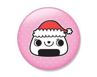 Christmas Onigiri Pocket Mirror