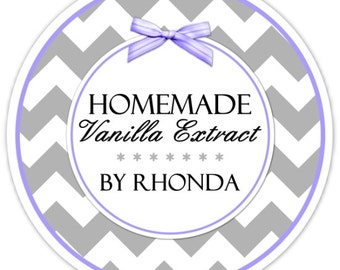 Custom Vanilla Labels or Canning Labels, Made For You Stickers, Personalized Labels, From The Kitchen Stickers