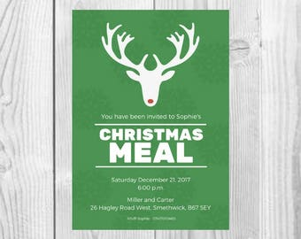 DIGITAL Christmas Meal / Party Invite