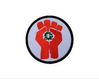 Fist of Gonzo Hunter S Thompson Fear and Loathing Embroidered Motorcycle Patch