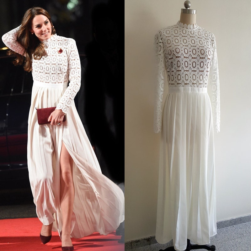 Kate Middleton/ Self Portrait Inspired Dress/ Maxi dress/ Lace
