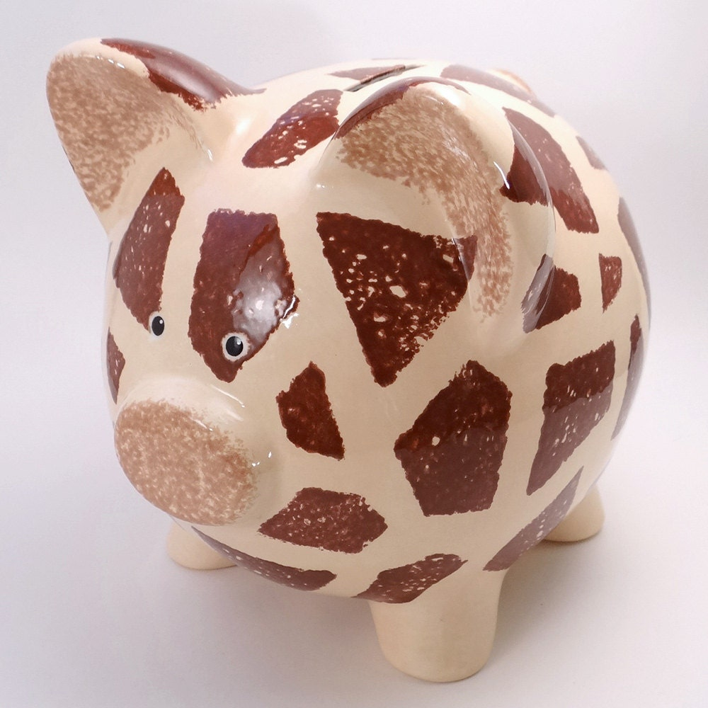 Giraffe Piggy Bank Personalized Piggy Bank Jungle Theme