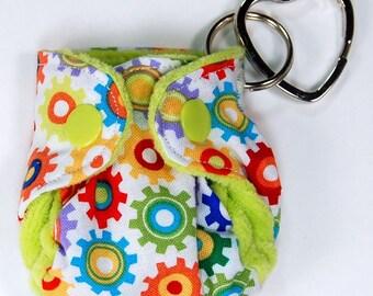 Cloth Diaper Keychain - Ornament - CD Advocacy - Key Ring - Diaper Bag Accessory - Sprockets