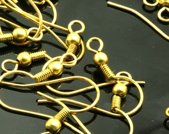 125 pcs  raw brass earring leverback findings 20 mm with one loop 1560