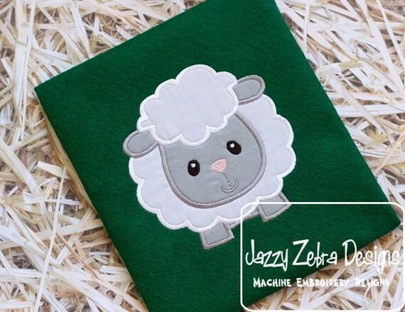 Sheep Applique embroidery Design - Lamb applique design - baby appliqué design - sheep appliqué design - Easter appliqué design