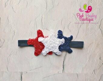 4th of July Baby Headband - Patriotic headbands - Baby Girl Headbands - Infant headbands - Baby Hair Accessories - Baby Hair Bows - Baby Bow