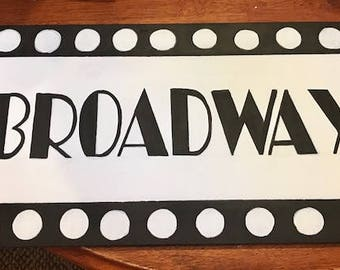 Broadway sign, party decor, NYC, custom made, hand made