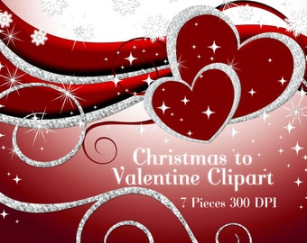 Valentine Christmas Holiday Clipart