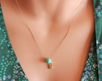 silver turquoise Necklace ocean necklace silver gold turquoise choker turquoise jewelry turquoise necklace pendant turquoise pendant necklac