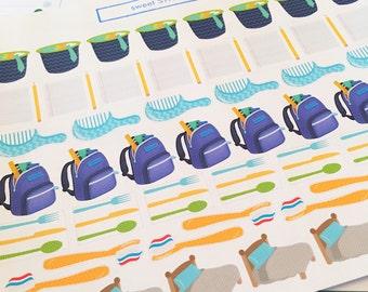 51 Assorted Kids' Chores Planner Stickers- Kids' Chore Reminder Stickers- perfect in your Erin Condren planner, calendar or scrapbook