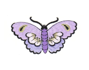 Af22 butterfly purple patch Folding Patch size 8.5 x 4.6 cm