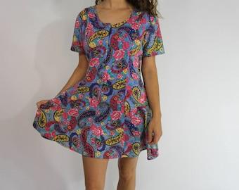 Paisly multi-color Skater dress