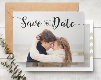 Save The Date Template - Engagement Announcement Card Photoshop Template SAVE THE DATE 006