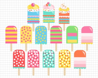 14 Ice Cream Clipart -  Ice Cream Clip art, Digital Download, Commercial Use Clipart, Food Clipart, Birthday Clipart - MPG97