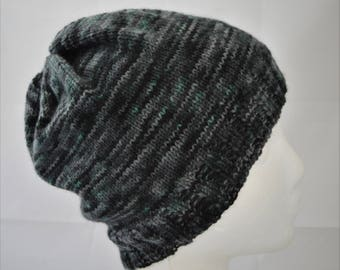 Slouchy Beanie, Gender Neutral Slouch Hat, Light Weight Wool Beanie for Men or Women