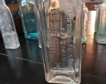 California Fig Syrup Bottle