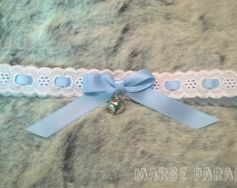 Pale lolita collar - pet play little space kitten play puppy play bunny play ddlg