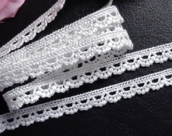 3/8 inch wide ivory  Lace trim 1 yard and 7 inch cut