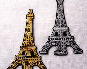 EIFFEL Tower PARIS - Patch embroidered patch Thermo * 6.5 X 10 cm * model available