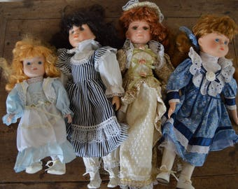 4 Vintage Dolls, Collectible